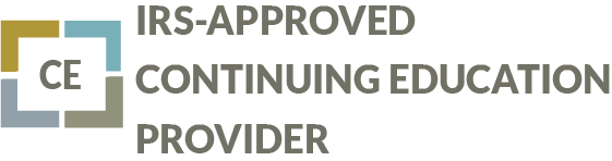 Seal designating an IRS Approved Continuing Education Provider